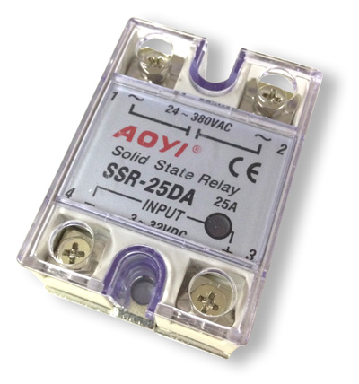 Relay electrónico Solid State - In 32 VDC - OUT 380VAC, 25A